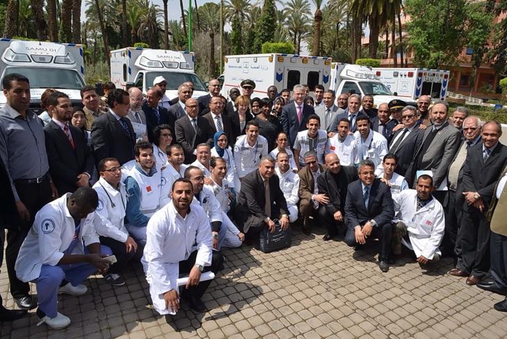 إحداث أول خدمة لطب المستعجلات والإنعاش الأولي المتنقل بجهة مراكش تانسيفت-الحوز على المستوى الوطني