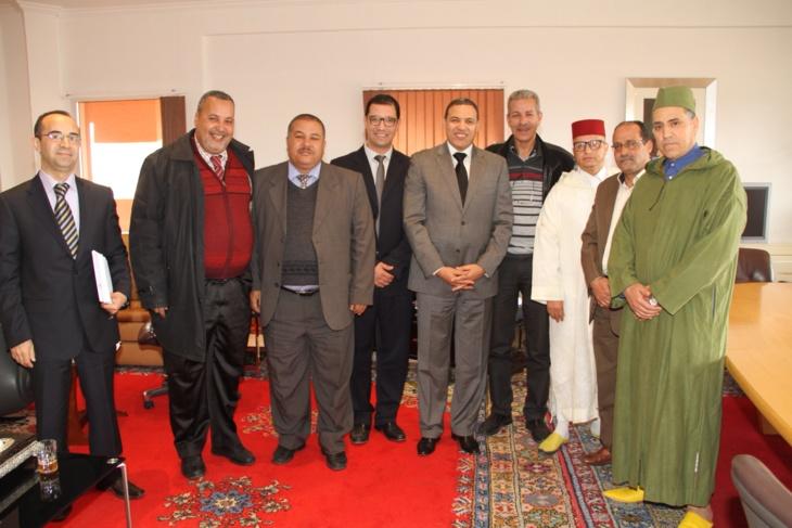 عبد السلام بيكرات والي الجهة يستقبل أعضاء مكتب فرع النقابة الوطنية للصحافة المغربية بمراكش
