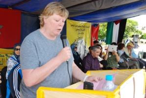 ميريكان حاضرة فمسيرة عمالية بمراكش ما حضر ليها غير 400 واحد