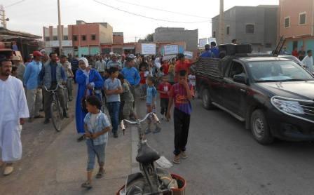مسيرة احتجاجية بسيدي الزوين نواحي مراكش ضد التهميش وسوء التدبير