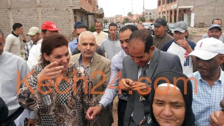 عمدة مراكش تقف على ضروب