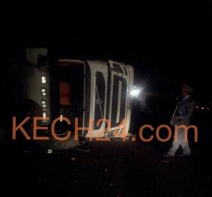 اصابة شخصين بجروح اثر انقلاب شاحنة بمراكش + صورة حصرية