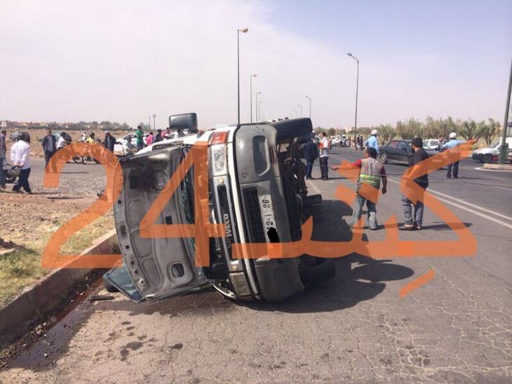 حادثة سير خطيرة بمراكش وهذه هي الحصيلة + صورة حصرية