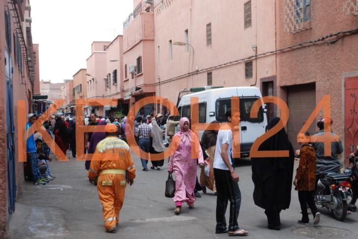 أخيراً ... حملة تحرير الملك العمومي تصل إلى أحياء المدينة العتيقة لمراكش + صورة حصرية