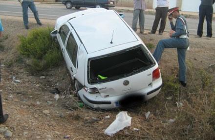 شيشاوة .... وفاة رئيس جماعي سابق وإصابة إبنه بكسور بليغة بعد إنقلاب سيارتهم