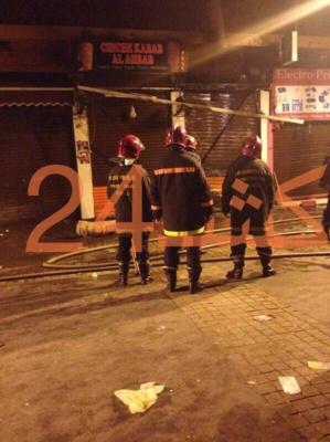 عاجل : اندلاع النيران باحد مطاعم شاورما بممر لبرانس بمراكش + صورة حصرية من عين المكان