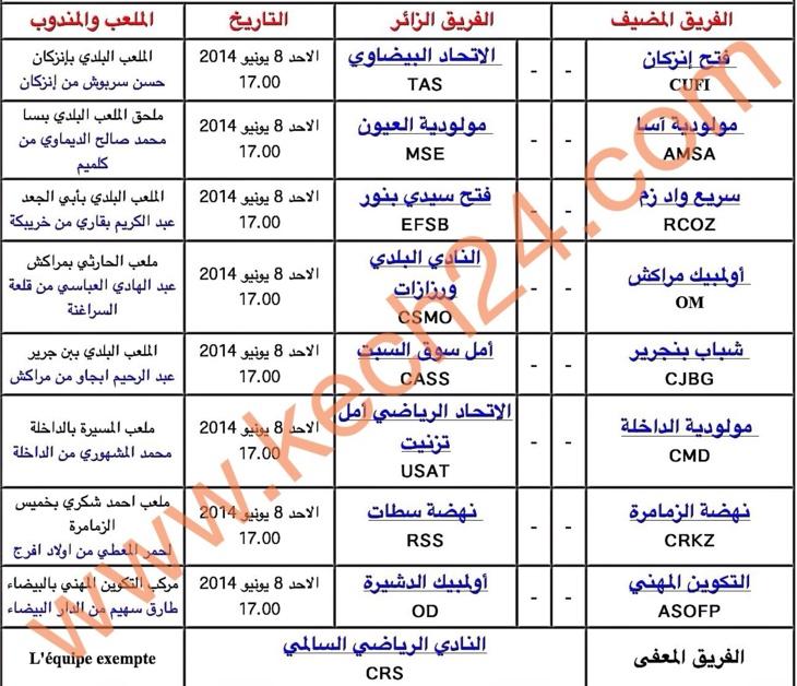 أولمبيك مراكش في مبارة سد قوية مع النادي البلدي لورزازات + معطيات وبرنامج الدورة 31