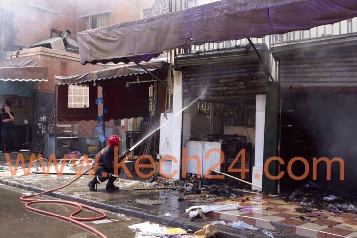 متابعة : آخر حصيلة للحريق المهول الذي شهده حي ديور المساكين بمراكش