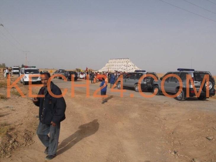 والي مراكش يدفع بالمئات من عناصر الدرك الملكي والقوات المساعدة لفض اعتصام لعشرات المواطنين بسيدي الزوين