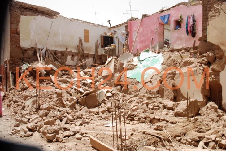 انهيار منزل بدرب سيدي مسعود بباب دكالة بمراكش + صورة حصرية