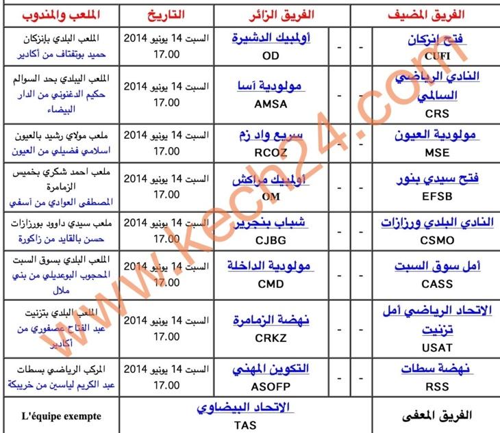 أولمبيك مراكش يلعب آخر أوراقه مع فتح سيدي بنور + معطيات وبرنامج الدورة 32