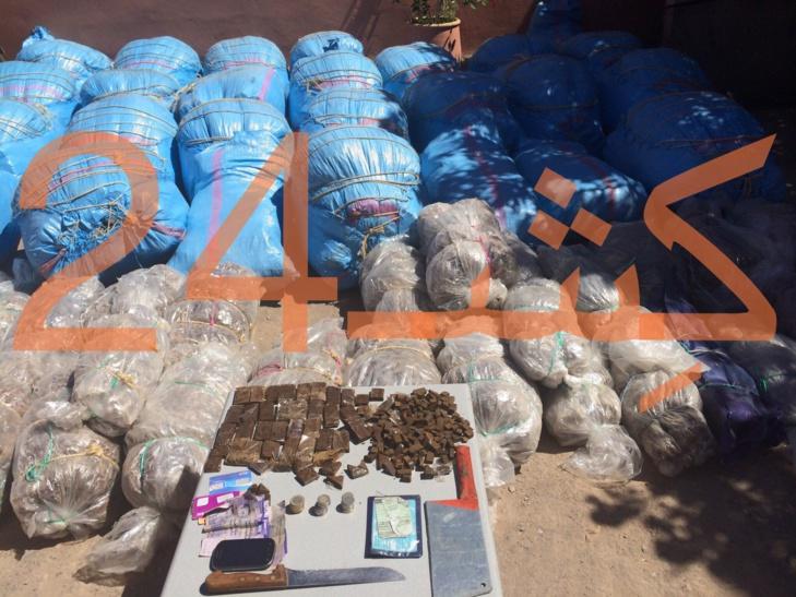 حصري : عناصر الدرك الملكي تحجز ازيد من طن من المخدرات نواحي مراكش