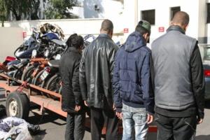 امن مراكش يفكك شبكة إجرامية متخصصة في سرقة الدراجات النارية والتزوير واستعماله واستيراد دراجات نارية بطريقة غير قانونية