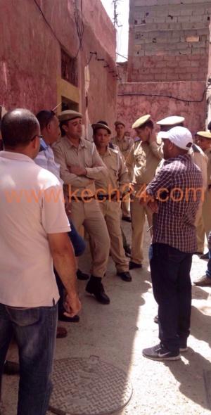 السلطات المحلية بالمحاميد تهدم منزلا عشوائيا + صورة