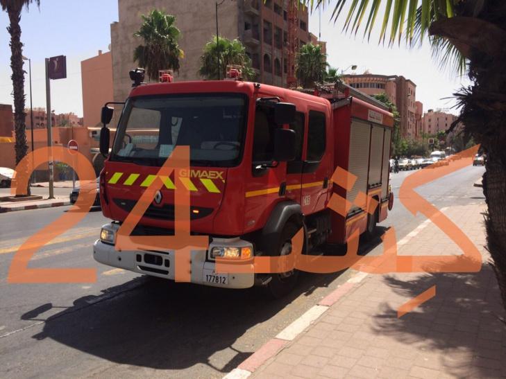 دخان شواية يستنفر عناصر الوقاية المدنية بشارع الزرقطوني بمراكش + صورة حصرية