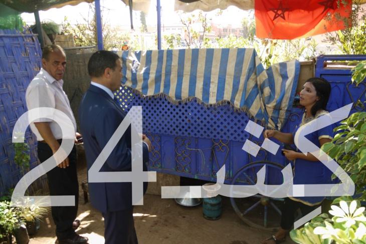 البوم الصور : الوالي بيكرات في زيارة مفاجئة لجامع الفنا والأسواق المحيطة بها بمراكش