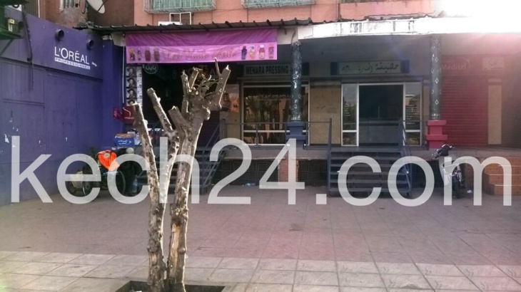 هكذا يحافظ صاحب محل تجاري على البيئة بشارع مولاي عبد الله بمراكش + صورة