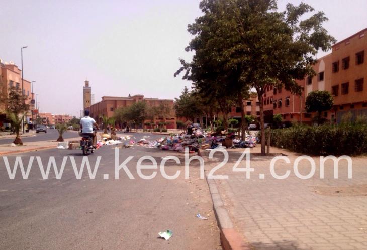 أحياء وشوارع مراكش تغرق في الأزبال أمام صمت المسؤولين والمنتخبين + صورة حصرية