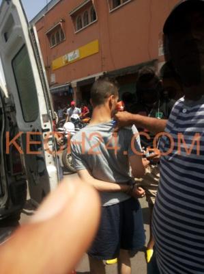 عاجل : أمن مراكش يعتقل احد افراد عصابة متخصصة في سرقة الدرجات النارية بحي باب دكالة+ صورة حصرية