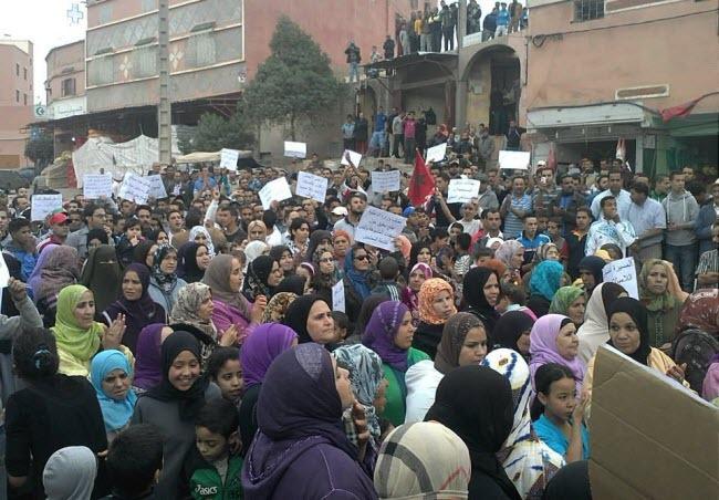 العطش يُشعل فتيل الإحتجاج الشعبي بأمزميز نواحي مراكش