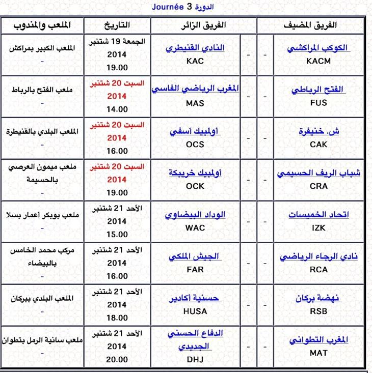الكوكب المراكشي يقص شريط الدورة 3 من الدوري الوطني للمحترفين في كرة القدم + البرنامج العام للمباريات