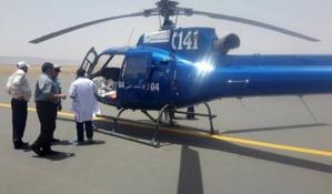مروحية وزارة الصحة تنقذ حياة امرأة حامل بنواحي مراكش