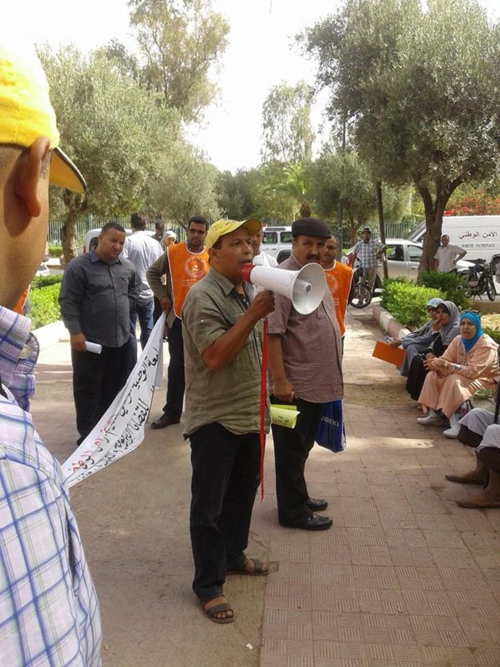 اعتصام بنيابة التعليم بمراكش احتجاجا على طريقة تدبير ممثل بلمختار لقضايا وشؤون القطاع