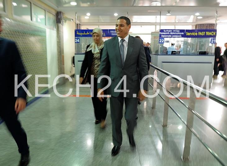 بالصور : والي الجهة عبد السلام بيكرات يتفقد مصالح مطار مراكش لمنارة