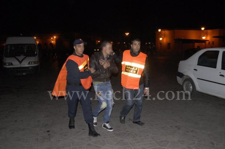 هكذا تم اعتقال شخص يجمع بين بيع المأكولات وترويج المخدرات بساحة جامع الفنا بمراكش
