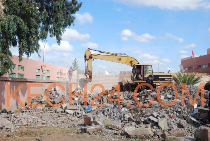 بالصور : هدم أزيد من 5 منازل بتسلطانت بنواحي مراكش