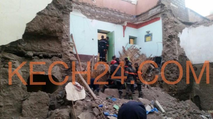 عاجل: انهيار منزل برياض العروس بالمدينة العتيقة مراكش + صورة حصرية
