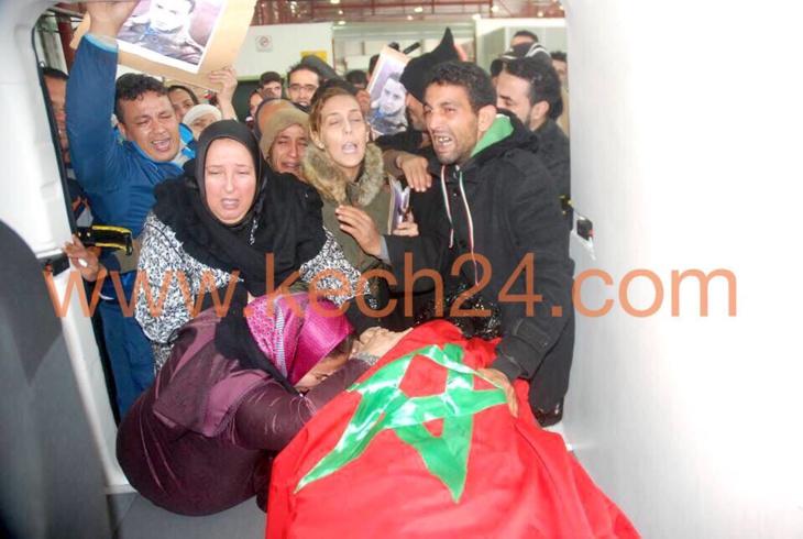 عاجل: جثمان المراكشي طارق لحميدي الذي قتله جزائري بسبب