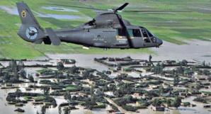 السلطات تستعمل مروحيات الدرك لإيصال المساعدات لسكان الحوز المنكوبين جراء السيول