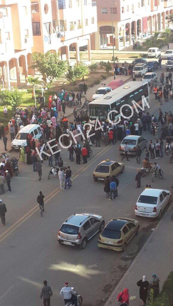 عاجل: حافلة للنقل الحضري تتسبب في مصرع طفل بالمحاميد9 بمراكش+ صور حصرية