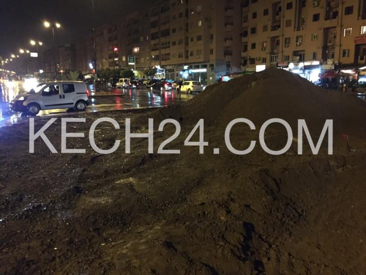 حصري : حادثة سير خطيرة بسبب انعدام علامات التشوير بشارع مولاي عبد الله بمراكش + صور حصرية