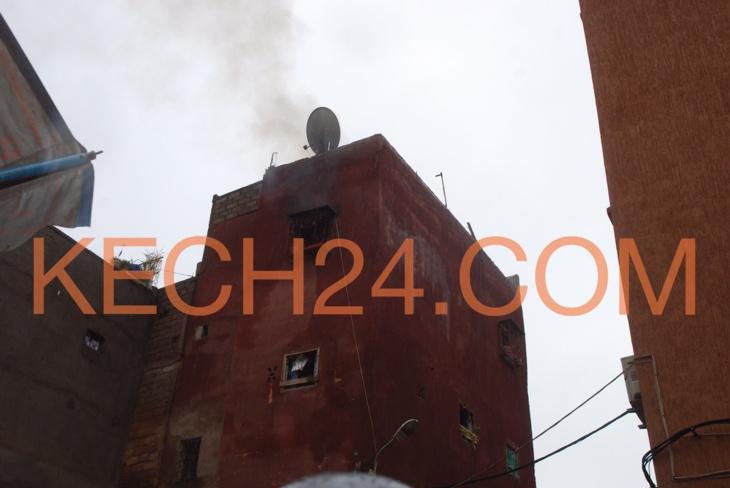 النيران تلتهم غرفة باحد المنازل بحي سيدي يوسف بن علي بمراكش