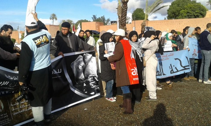 المهدي بنبركة في منتدى مراكش واليسار والعدليين والأمازيغ يلتئمون حول شعارات تندد بتراجع الحقوق والحريات + صور