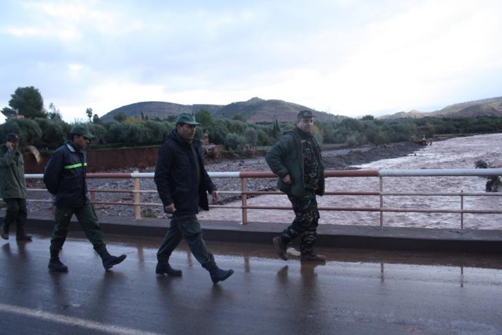 يونس البطحاوي عامل إقليم الحوز يتفقد المناطق المتضررة بأوريكا + صور