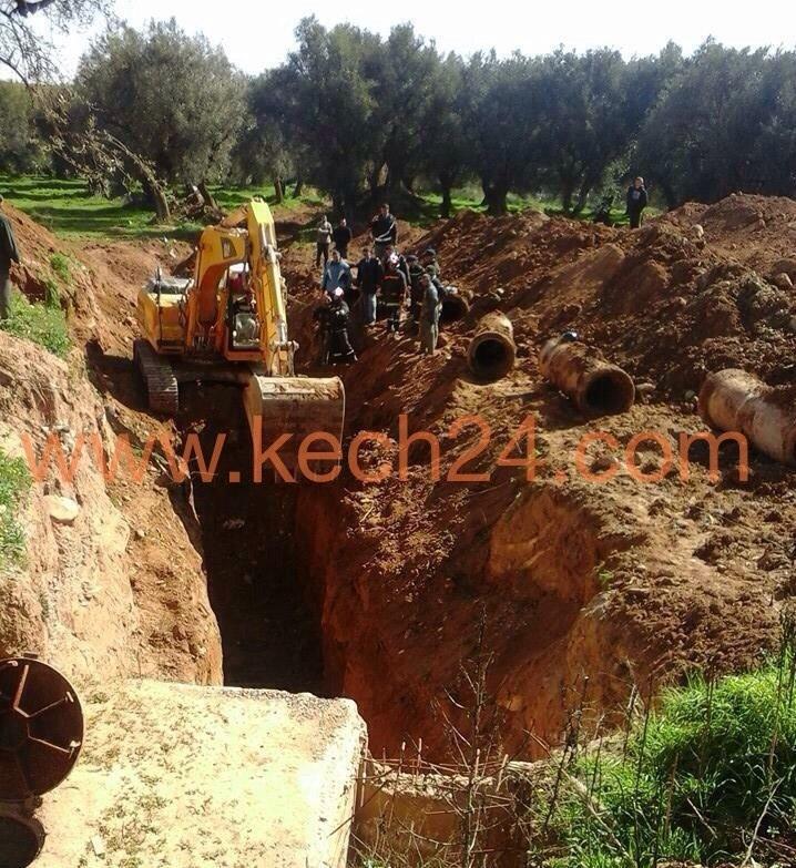 بالصور: عملية إنتشال جثت ضحايا إنهيار نفق أرضي بأمزميز نواحي إقليم الحوز