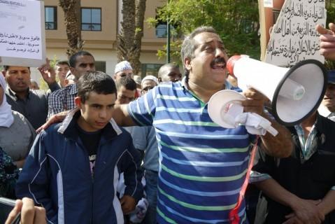 المركز المغربي لحقوق الإنسان يحتج بمراكش للمطالبة بتحريك المحاكمات في قضايا الفساد والنهب