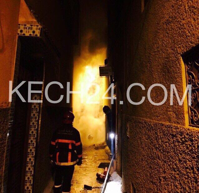 حصري : أولى صور حريق الحمام العصري بحي القنارية بمراكش
