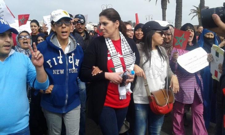 العمدة فاطمة الزهراء المنصوري والمسيرة الوطنية بمناسبة اليوم الاممي للمرأة بالرباط