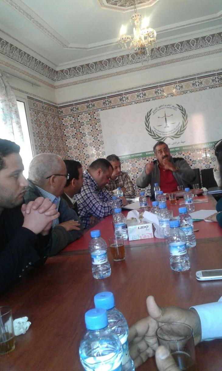 طاطوش: رسالة رموز الفساد بمراكش وصلت ومحاولاتهم زعزعت المركز المغربي لحقوق الانسان باءت بالفشل