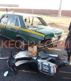 عاجل : حادثة سير خطيرة بمدخل تامنصورت + صور حصرية