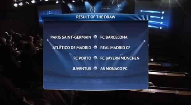 قرعة مباريات دوري أبطال أوروبا لكرة القدم 2015