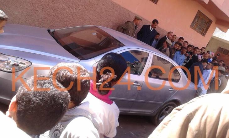 عاجل: سيارة عليها آثار دم بحي سيدي يوسف بن علي تستنفر أجهزة الأمن بمراكش + صورة حصرية
