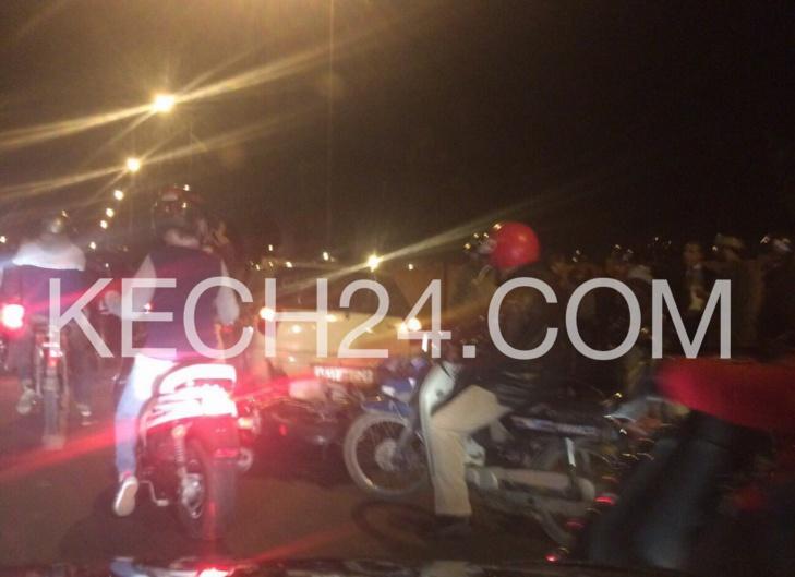 حادثة سير خطيرة بطريق لمحاميد مراكش + صورة حصرية