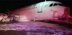 إصابات في انزلاق عنيف لطائرة 'إيرباص' في مطار بكندا