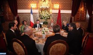 الملك يقيم مأدبة عشاء على شرف الوزير الأول الفرنسي يترأسها رئيس الحكوم