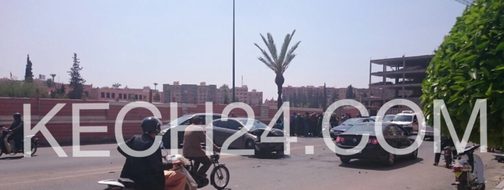 حادثة سير خطيرة بشارع المزدلفة بمراكش + صور حصرية